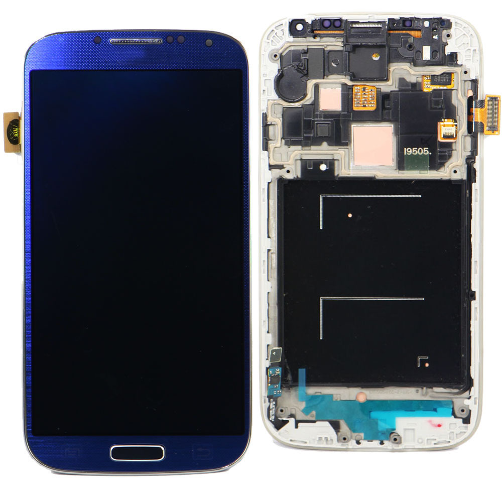 For Samsung Galaxy S4 digitizer i9505 i9500 I337 LCD Display with Touch Screen display Digitizer Frame Assembly Arctic Blue moskii brand ultra thin pc protective case cover for htc desire 820