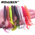 5Pcs/lot 8cm 4.2g Fishing Lure Silicone salt Smell Lures For Fishing Soft Bait Worm isca artificial Silicone Carp Fishing Tackle