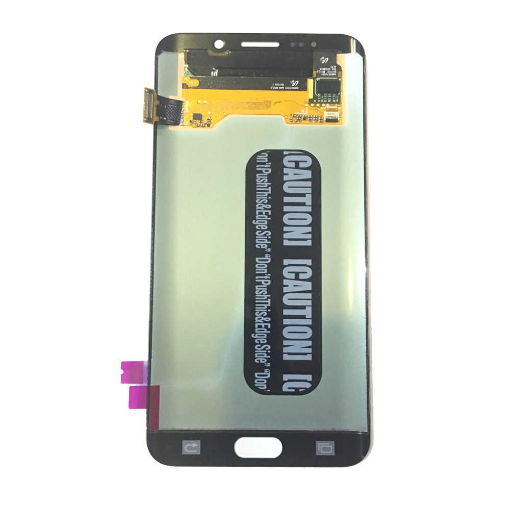 عالية الجودة سوبر AMOLED شاشات LCD لسامسونج غالاكسي S6 حافة زائد G928 G9280 G928F LCD شاشة عرض مجموعة رقمنة اللمس