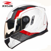 ZEUS New Motorcycle helmet 2 lenses Upscale Protective Gear full face motorcycle helmet easy clasp closure  motorbike helmet 813