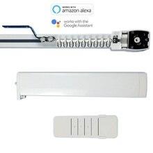 Amazon alexa curtain track, WIFI motor, work with Google Home & Alexa, google home track