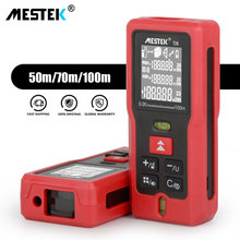 MESTEK 50m 70m 100m Laser Distance Meter Rangefinder Medidor Trena Laser Level Tape Measure Laser Meter Ruler Range Finder tools laser distance meter x6 50m 70m 100m distance measurer meter rangefinder power button device