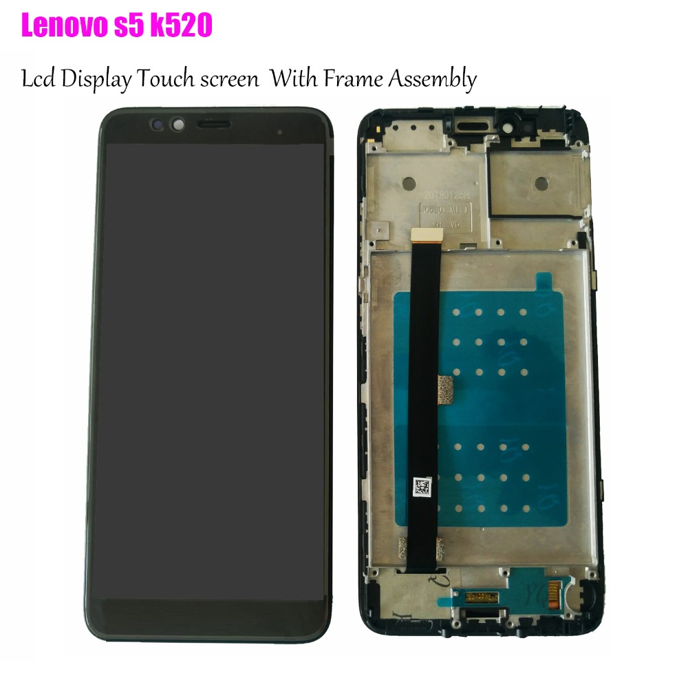 New 5.7 Original LCD for lenovo s5  k520 Display Touch Screen with Frame Replacement for Lenovo S5 LCD DisplayNew 5.7 Original LCD for lenovo s5  k520 Display Touch Screen with Frame Replacement for Lenovo S5 LCD Display