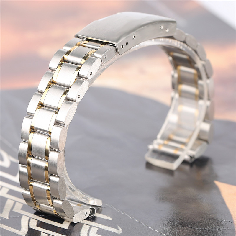 18/20/22mm Silver/Black/Gold High Quality Stainless Steel Watchband for Men Women Watch Bracelet Wristband Strap + 2 Spring Bars high quality milan stainless steel watchband 20mm 22mm men and women black brown watch strap for breitling strap bracelet