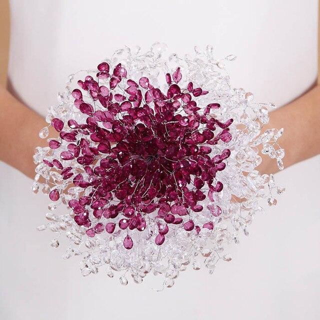 New Design Crystal Wedding Bouquet Bride Bouquet Bridal Wedding Bouquet Bridesmaid Artificial flower Hand Made beaded Brooch