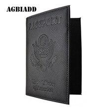 США Обложка для паспорта чехол S617-5 RFID Блокировка дорожный кошелек органайзер для документов черный фиолетовый