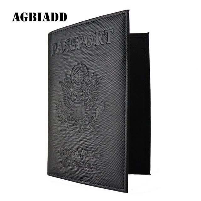 399718750a37 US $4.75 5% OFF|USA Passport Holder Cover Case S617 5 RFID Blocking Travel  Wallet Document Organizer Black Purple-in Card & ID Holders from Luggage &  ...