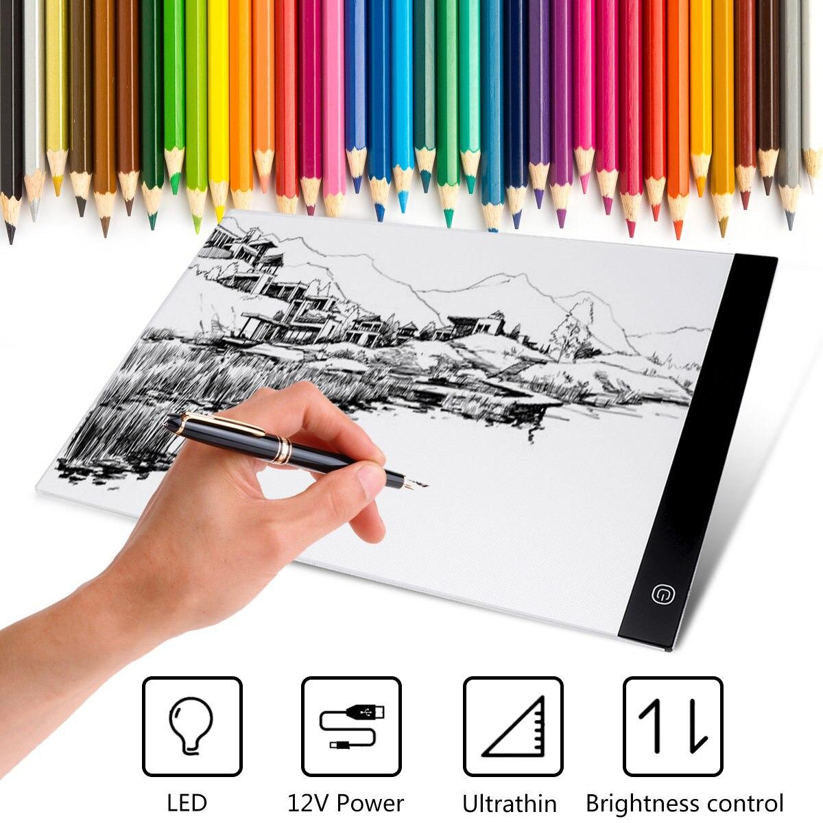 A3 LED planche à dessin LED tablette graphique ecriture peinture boite à lumière planche de traçage numérique dessin tablette copie Table panneau LED Pad