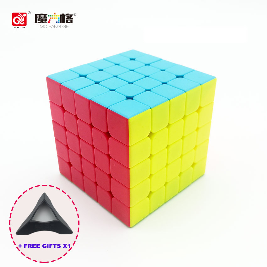 QiYi 5X5X5 Magic Cube Professional Puzzle Square Cube Stickerless Cubo Magico Game Cube Educational Neo Speed Toys For Children цена