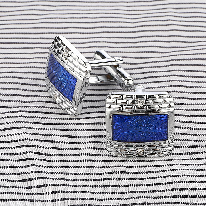 French Style Square Pattern Cufflinks For Mens Special Gentleman Jewelry Shirt Cufflinks For Male