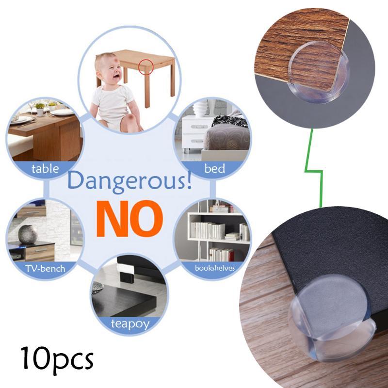 10 pièces meubles de maison bord Cornet couvre bébé Anti Collision gardes de sécurité bébé sécurité enfants Anti Collision accessoires