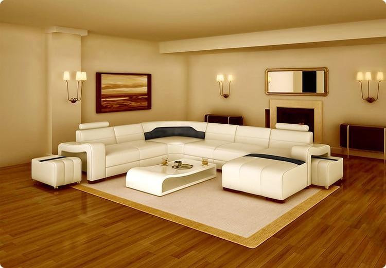 2015 New Sofa Design Modern Leather Sofa V016-in Living Room Sofas ...