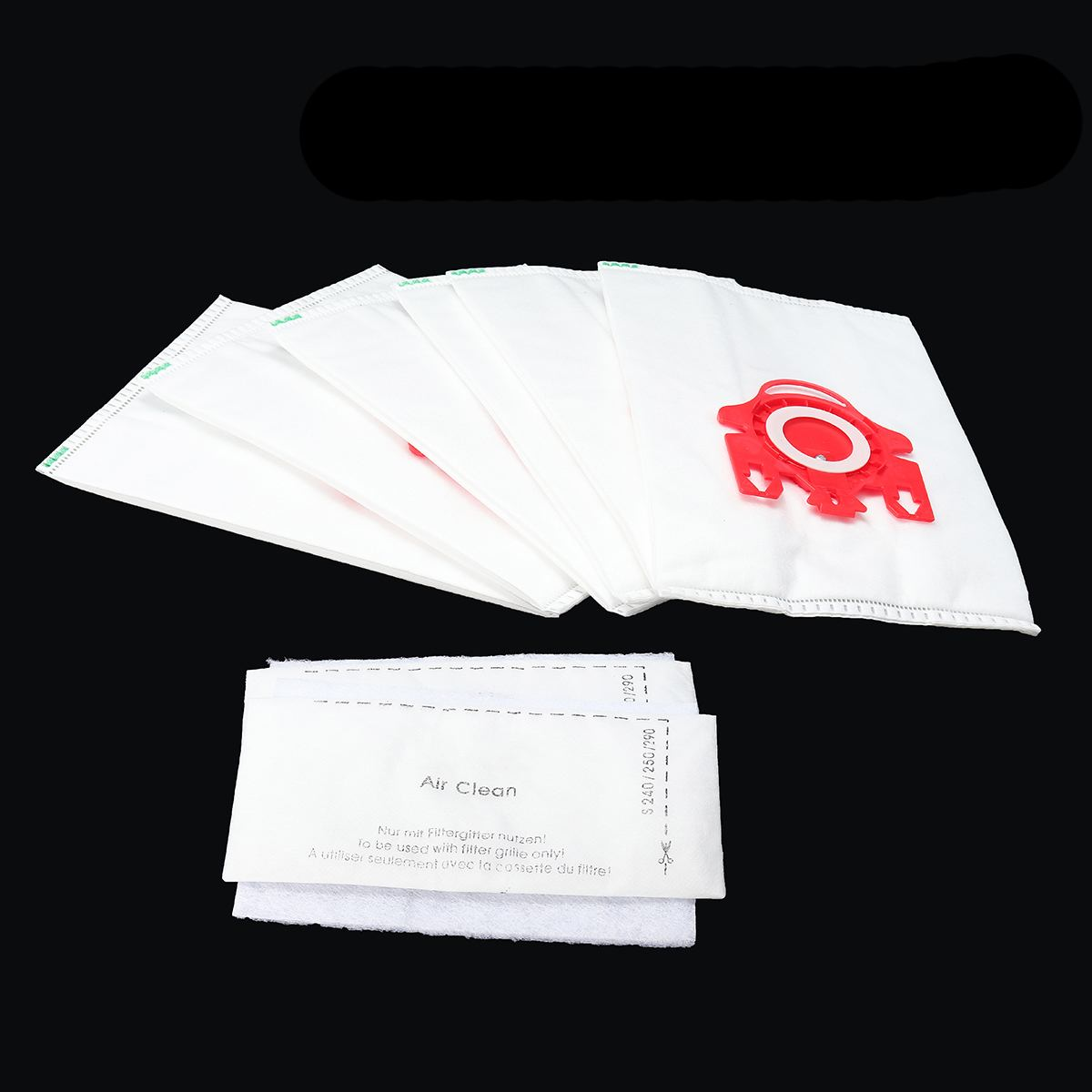 12 Bags + 4 Filters Vacuum Cleaner Bags Fits Miele GN HYCLEAN C2 C3 S5 S8 S5210 S5211 S8310 CAT DOG Blue Red Non Woven Fabrics