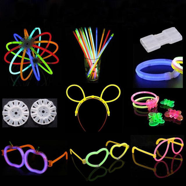 8Pcs/Lot Multi-Function Light Sticks Connector Glow Stick Accessories for Birthday Party Decorations Supplies Kids Boys  2019