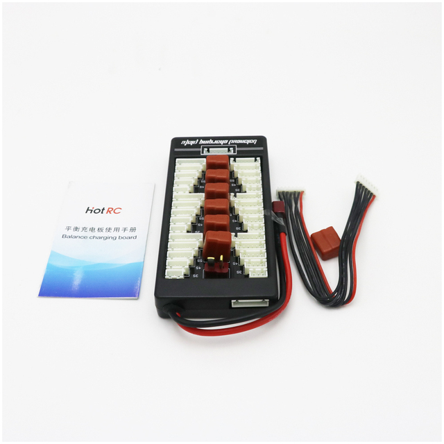 1pcs HotRc High Quality 2S-6S Lipo Battery Parallel Charging Board Charger Plate T Plug XT60 Plug for Imax B6 B6AC B8 6 in 1