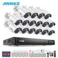 ANNKE 16CH 6.0MP PoE NVR безопасности Системы с 16 шт. 4 мм 4.0MP 1688*1520 всепогодный камеры ночного видения P2P onvif WDR 3D DNR