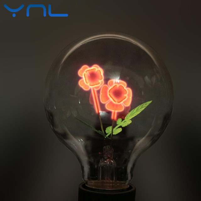 Ynl Edison żarówka Lampy E27 220 V Dekoracyjne G80 Vintage Nowość święto świateł 3 W Oświetlenie świąteczne Dla Domu Lampada