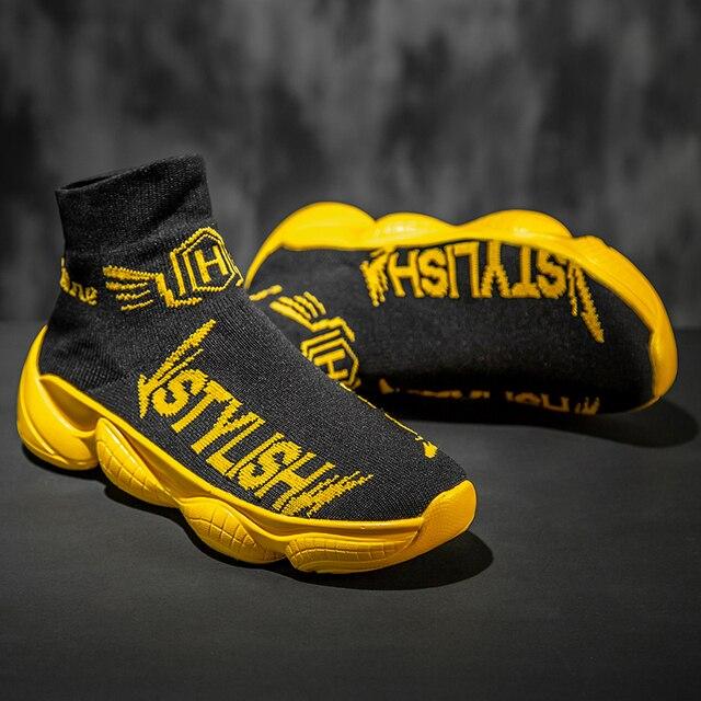 Мужская повседневная обувь брендовые удобные модные кроссовки для мужчин zapatos hombre высокое качество Лидер продаж тренд легкие носки обувь с...