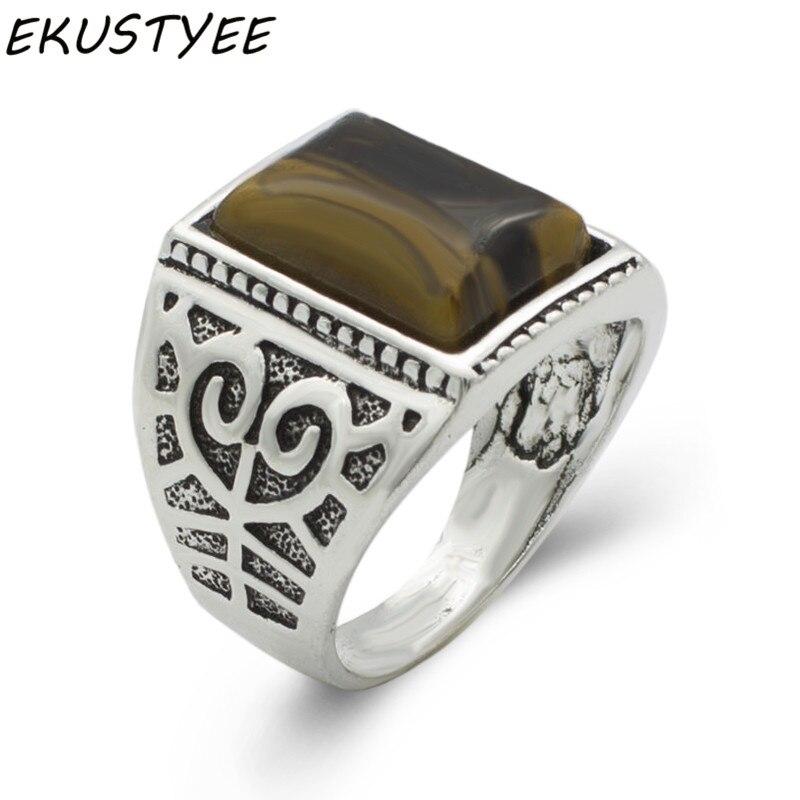 72026b8a892d Detalle Comentarios Preguntas sobre Nueva moda Tailandia origen Caballero  Tigre ojos piedra anillo tamaño  8 11 joyería de moda gemas de cuarzo piedra  ...