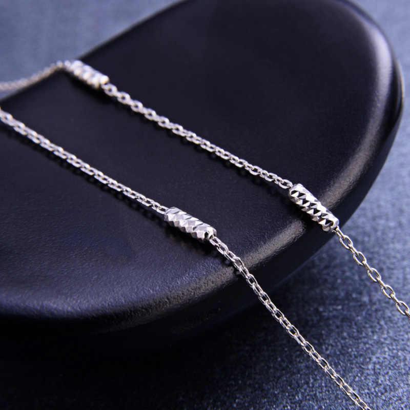 Cổ điển Cơ Bản Dây Chuyền 100% Bạc 925 18 inch Tùy Chỉnh Trang Sức Nữ DIY Dây Chuyền Vòng Cổ cadenas de plata 925