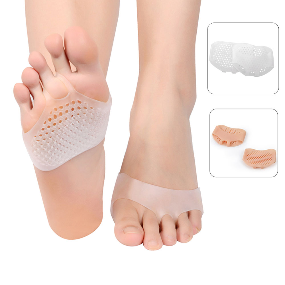 1 Pair Pedicure Foot Care Anti-Slip Forefoot Insoles for Leg Heel-File Shoes Back Massager Relife Pain Foot Pedicure Tools