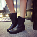 Mujeres de la manera Zapatos de Invierno A Mediados de la Pantorrilla Mujeres Botas Mantener Caliente las señoras de La Vendimia Pisos Zapatos de Tacón Medio Zapatos de la Nieve de Otoño Caliente de La Venta invierno