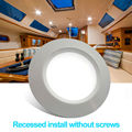2 unids/lote 68mm LED Ahuecado Abajo de la Luz 12 V DC Lámpara de Techo Blanco Frío de Aluminio Concha Blanca Caravana/Remolque caravana/RV Partes