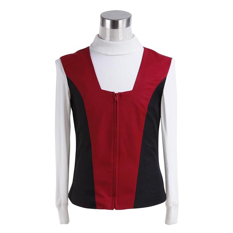 Star Trek Kirk Ribbed Shirt Red Black Vest Cosplay Costumes  1