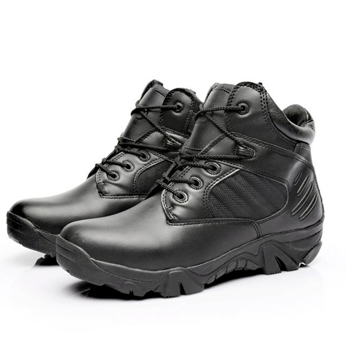 ФОТО Military Tactical Combat Outdoor Sport Army Men Boots Desert Botas Hiking Autumn Shoes Travel Genuine leather High Boots Male