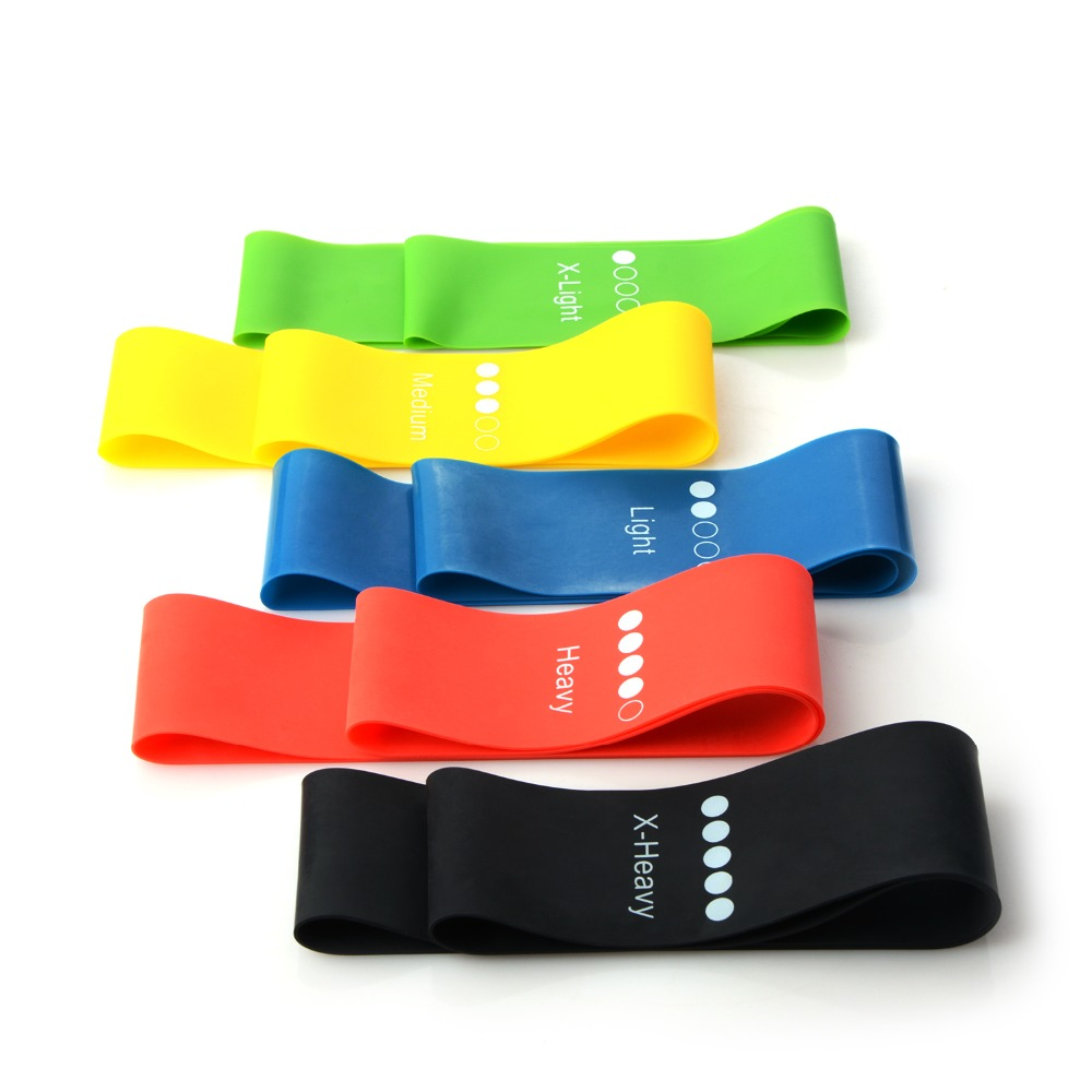 0.35mm-1.1mm Muticolors Yoga Resistance Bands Rubber Tapes Inner Fitness Outdoor Pilates Sports Body Ankle Legs Elastic Strips