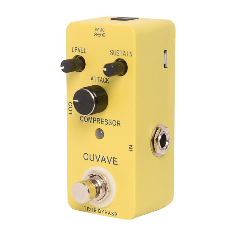 CUVAVE COMPRESSOR Compressor Pedal Guitar Effect Pedal with True Bypass High Quality Guitar Parts & Accessories true bypass looper effect pedal guitar effect pedal looper switcher true bypass guitare pedal mini light blue loop switch