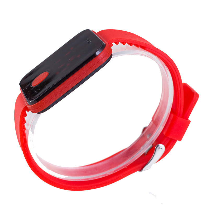 Fashion Ultra-thin Screen Wristwatches Children Electronic Watches Men Silicone LED Watch GM