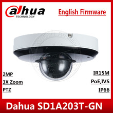 Dahua 2MP 3X Zoom SD1A203T GN IVS Face Detection PoE IR15m IP66 Starlight IR PTZ Network Camera SD1A203T GN English SD22404T GN