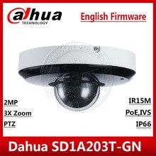 Dahua 2MP 3X Zoom SD1A203T GN IVS wykrywanie twarzy PoE IR15m IP66 Starlight IR PTZ kamera sieciowa SD1A203T GN w języku angielskim SD22404T GN
