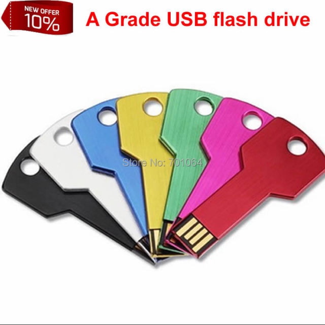 Free DHL: 100pcs 16GB 8GB  cheapest USB flash drive key shape usb flash drive with logo pendrive
