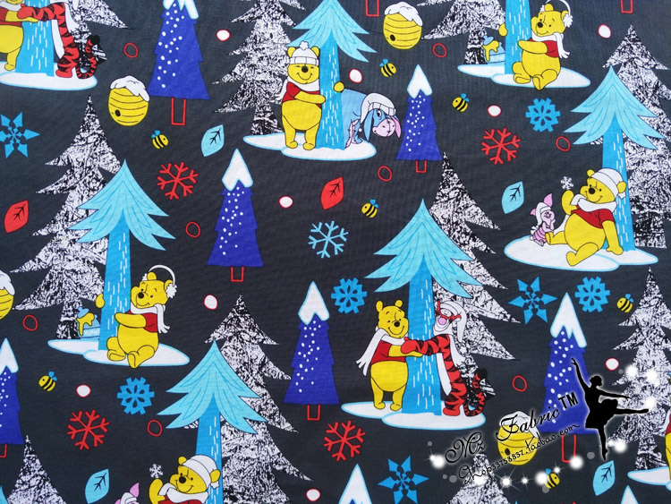 Christmas Winnie Pooh with friends Child Cotton Fabric