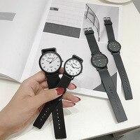 Шикарный стиль женские часы студентка корейской версии простой случайные тенденции ulzzang ретро колледж моды пара наручные часы