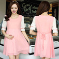 Maternity Clothing Summer Dress For Pregnant Women Elegant Maternity Chiffon Clothes Pregnancy Dress Premama Lactation 502220