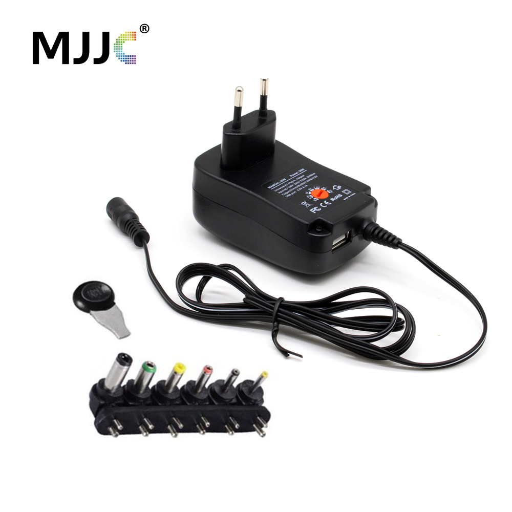 Universal Power Adapter DC12V Power Supply Adjustable Voltage USB <font><b>LED</b></font> <font><b>Driver</b></font> 12 Volt 3V <font><b>6V</b></font> 9V 5V <font><b>LED</b></font> Strip Regulated Transformer image