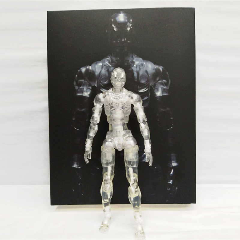 Heavy Industries Synthetic Human Transparent Body Kun 1/12 Scale Action Figure Collectible Model Toy 15cm 1000toys toa heavy industries synthetic human 1 6 scale action figure collectible model toy brinquedos 28cm