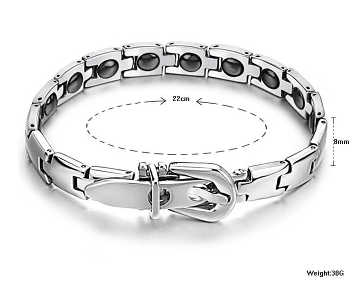 Europe New Fashion Hot Jewelry Crystal from Swarovski Explosive jewelry titanium stone energy health men's bracelet