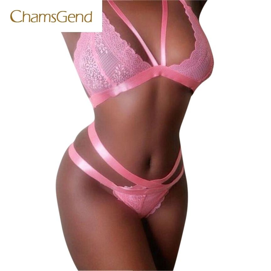 Chamsgend Coolbeener Women Sexy Lingerie Lace Dress Babydoll Underwear Nightwear Sleepwear G-string mar2
