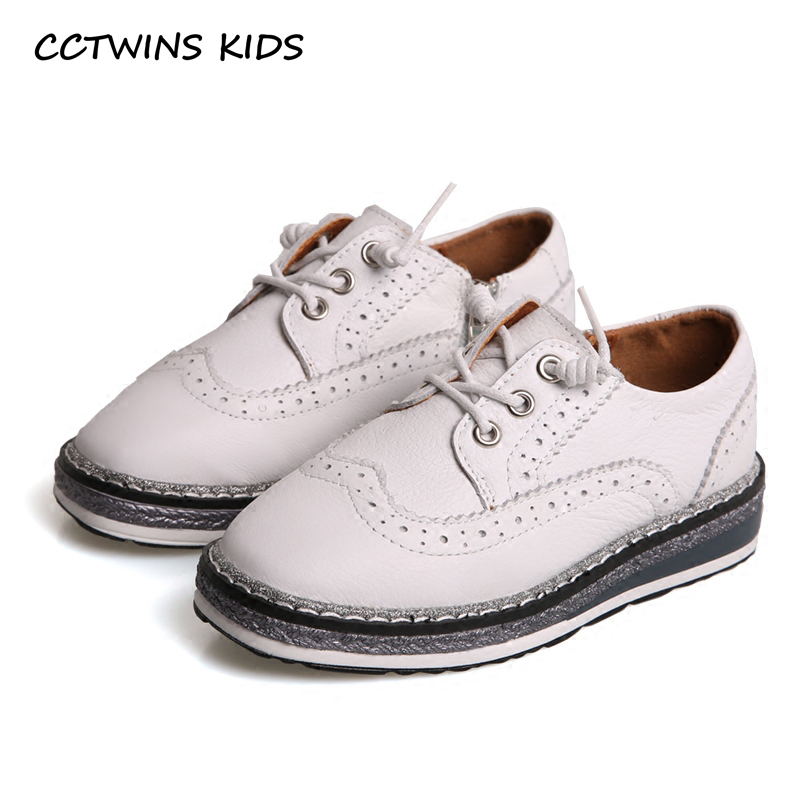 CCTWINS KIDS 2018 Spring Child Kid Fashion Genuine Leather Lace-up Shoe Baby Girl Thick Bottom Toddler Strap Black Shoe G1618 thick strap button up skinny bodysuit