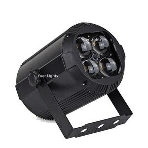 Image 3 - 2019 più nuovo Zoom Par Luci 4X10W RGBW 4IN1 LED Flat Par Luci Della Discoteca del DJ Della Lampada KTV Bar Partito Retroilluminazione Fascio lavaggio Proiettore