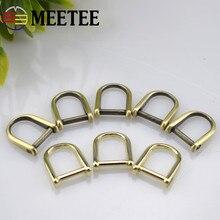 10pcs Meetee Belt Buckles Hanger D Ring Loop Seamless Horseshoe Buckle Snap Hooks Handbag Hardware Accessories G8-3