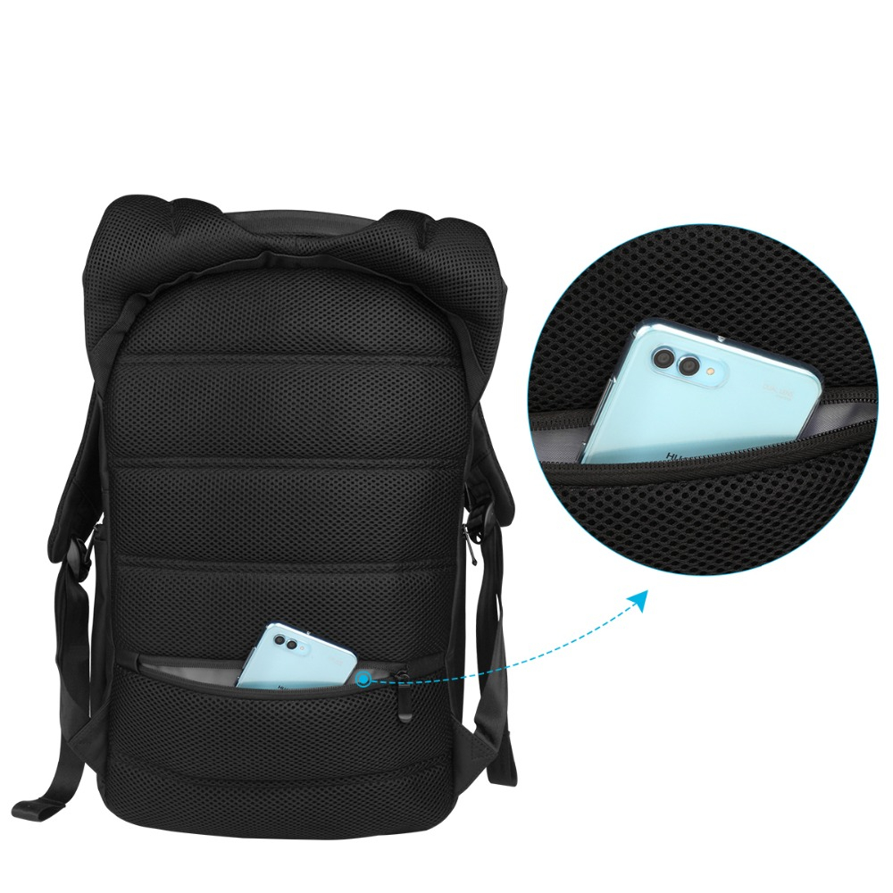 Image 5 - RU Notebook Backpack Anti thef men 15.6 inch With USB Chargring Port Laptop Back pack for Macbook Air pro 13 15 17 case backbag-in Laptop Bags & Cases from Computer & Office