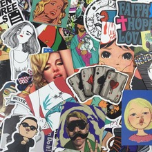 NEW 50 pcs mixed laptop snowboard luggage decor jdm brand sticker on car styling decal motorcycle doodle sticker car sticker