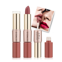 O.TWO.O Double-end matte lipstick lipgloss beauty Nude makeup long-lasting pigmented Lipsticks lip tint professional cosmetic