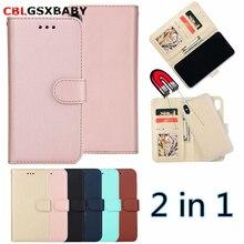 CBL 2 в 1 Магнитный съемный кожаный бумажник чехол для iPhone XS 78 6 XR плюс 5S SE чехол для телефона магнит съемный Ультратонкий чехол