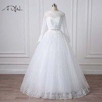 2016 New Custommized Wedding Dresses Vestido De Noiva Casamento Robe De Mariage Chiffon Beading Pleat Bridal